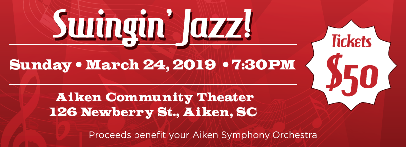 Swingin' Jazz, Sunday, March 24 7:30 PM